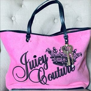 Juicy Couture Velour Sweet Pea Large Tote